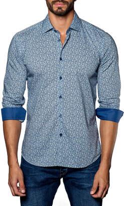Jared Lang Floral-Print Sport Shirt