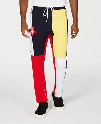 Reason Men's Blue Jacket Classic-Fit Colorblocked Joggers
