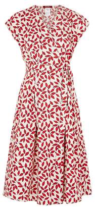 Max Mara Printed Cotton Wrap Dress