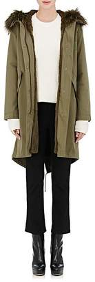 Army by Yves Salomon Women's Fur-Lined Hooded Anorak