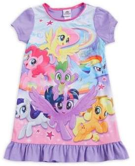 AME Sleepwear Little Girl's & Girl's My Little Ponies Ruffled Nightgown