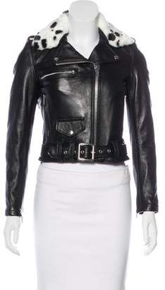 Schott NYC Perfecto Brand by Leather Faux Fur Jacket