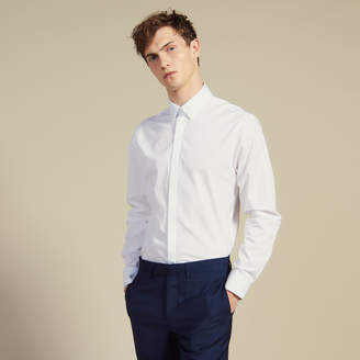 Sandro Poplin shirt with hidden placket