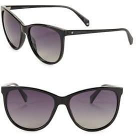 Polaroid 57mm Rounded Gradient Sunglasses