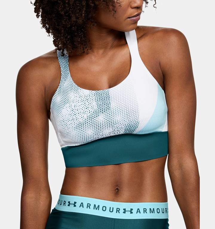 Under Armour Women's UA Breathelux Perforated Mid Printed Sports Bra