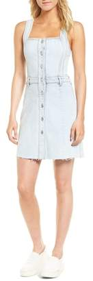 7 For All Mankind Denim Pinafore Dress