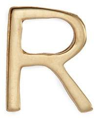 Loquet London 18k yellow gold letter charm - R