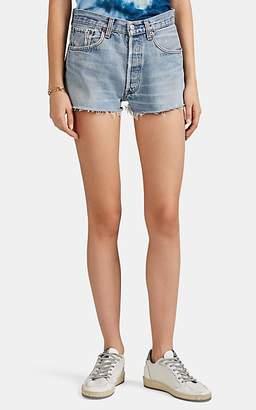 RE/DONE Women's High Rise Levi's® Cutoff Shorts - Blue