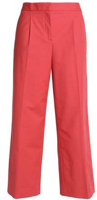 Moschino Pleated Cotton-Blend Culottes