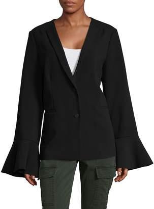Saks Fifth Avenue BLACK Women's Ruffle Sleeve Blazer