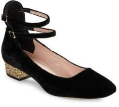 Kate Spade Marcellina Embellished Velvet Pumps