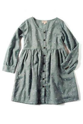 Appaman Green Feather Dress