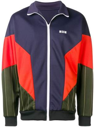 MSGM zipped colour block jacket