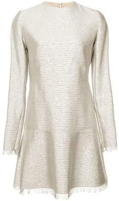 Oscar de la Renta long-sleeved fringe dress