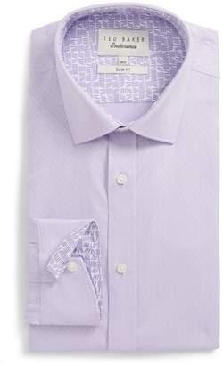 Ted Baker Endurance Driss Trim Fit Geometric Oxford Dress Shirt