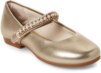 Pampili Toddler/Kids Girls) Gold Embellished Mary Jane Shoes