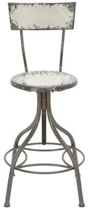 BEIGE DecMode Decmode Farmhouse 41 Inch Iron Bar Chair,