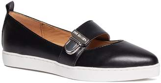 Love Moschino Scarpad Almond Toe Faux Leather Flat