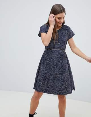 Yumi Nordic Dash Print Skater Dress
