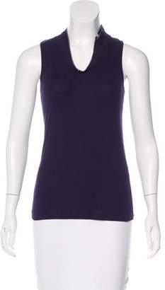 Brunello Cucinelli Monili-Trimmed Sleeveless Top