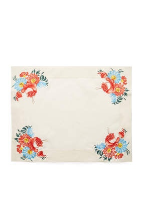 CABANA Set of Two Floral Linen Placemat