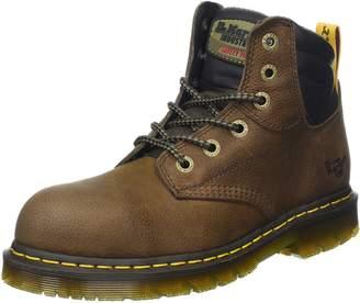 Dr. Martens Unisex Hynine Steel Toe 6 Tie Boots, Leather, Rubber, 7 M UK, M8/W9 M US