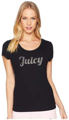 Juicy Couture Juicy Lace-Up Back Tee Women's T Shirt