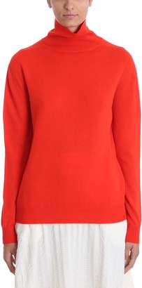 Jil Sander Red Wool Sweater