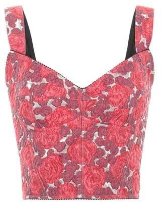 Dolce & Gabbana Printed crop top