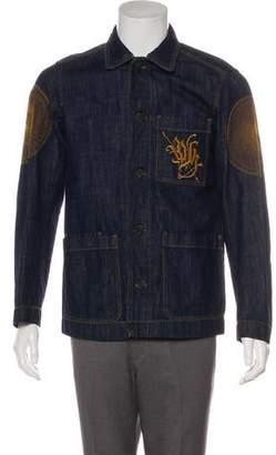 Dries Van Noten Embroidered Denim Jacket w/ Tags
