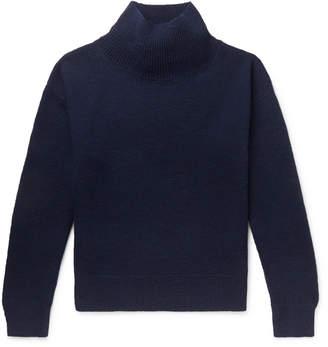 Dries Van Noten Merino Wool Mock-Neck Sweater