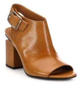 Alexander Wang Nadia Leather Mid-Heel Sandals