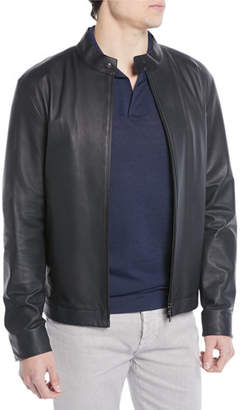 Loro Piana Lightweight Leather Bomber Jacket