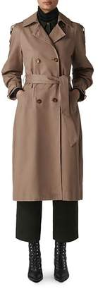 Whistles Imra Balloon-Sleeve Trench Coat