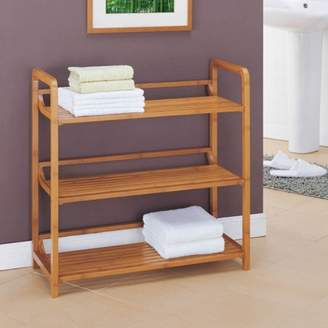 Organize It All Neu Home Lohas Collection 3-Tier Shelf, Carbonized Bamboo