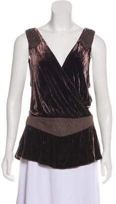 Sass & Bide Velvet Sleeveless Top