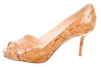 Christian Louboutin  Christian Louboutin Glazed Cork Pumps