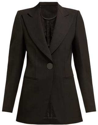 Petar Petrov Julian Single Breasted Silk Blend Blazer - Womens - Black