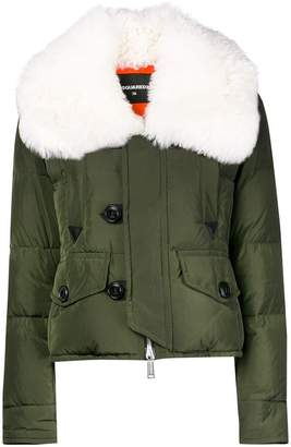 DSQUARED2 fur-trimmed down jacket