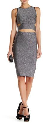 Gracia Melange Crop Top & Skirt $206 thestylecure.com
