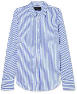 J.Crew Perfect Striped Cotton-blend Poplin Shirt