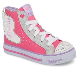 Skechers Twinkle Toes Shuffles Wonder Wings Light-Up High Top Sneaker