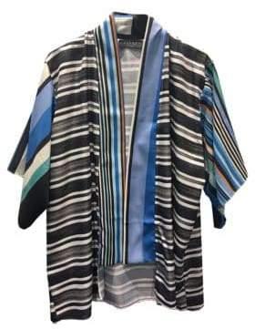 Laundry by Shelli Segal Striped Graphic Kimono