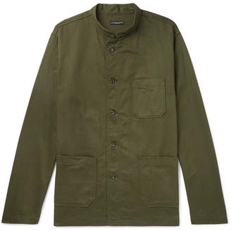 Engineered Garments Dayton Mandarin-Collar Cotton-Twill Shirt
