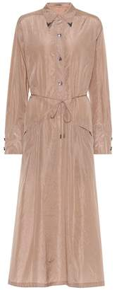 Bottega Veneta Embellished silk shirt dress