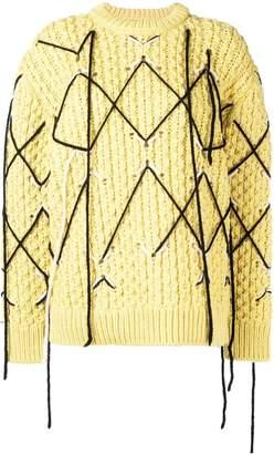 Calvin Klein argyle stitch jumper