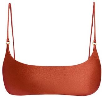JADE SWIM Hinge Bikini Top - Womens - Dark Red