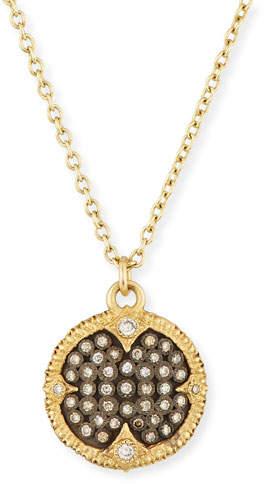 ArmentaArmenta Old World Pavé Diamond Disc Pendant Necklace