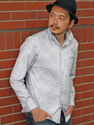 Men's Bigi (メンズ ビギ) - MEN'S BIGI グレンチェック×リーフジャガード シャツ メンズ ビギ シャツ/ブラウス