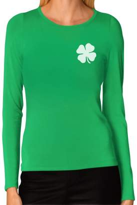 DAY Birger et Mikkelsen TeeStars Irish Shamrock Pocket Size Clover St. Patrick's Women Long Sleeve T-Shirt